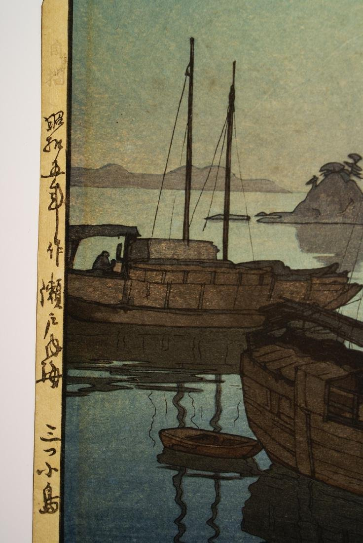 Hiroshi Yoshida Woodblock Three Little Islands - 3