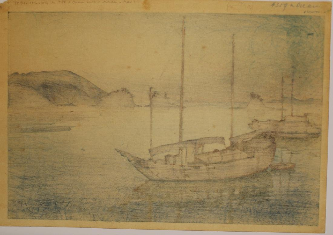 Hiroshi Yoshida Woodblock Three Little Islands - 6