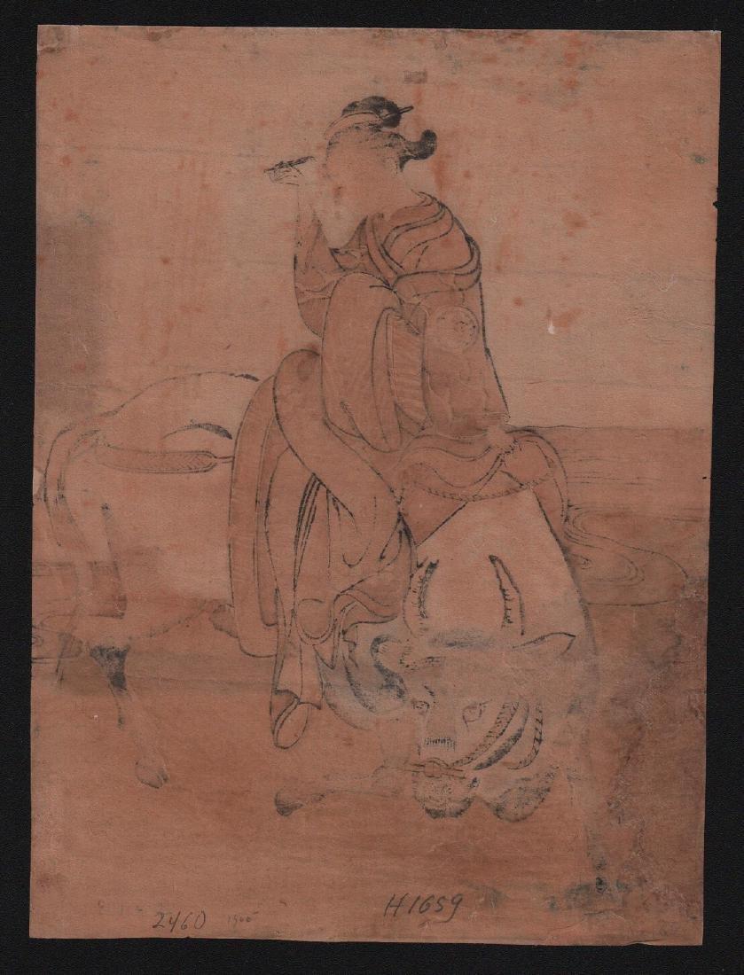 Isoda Koryusai Woodblock Beauty and the Ox - 2