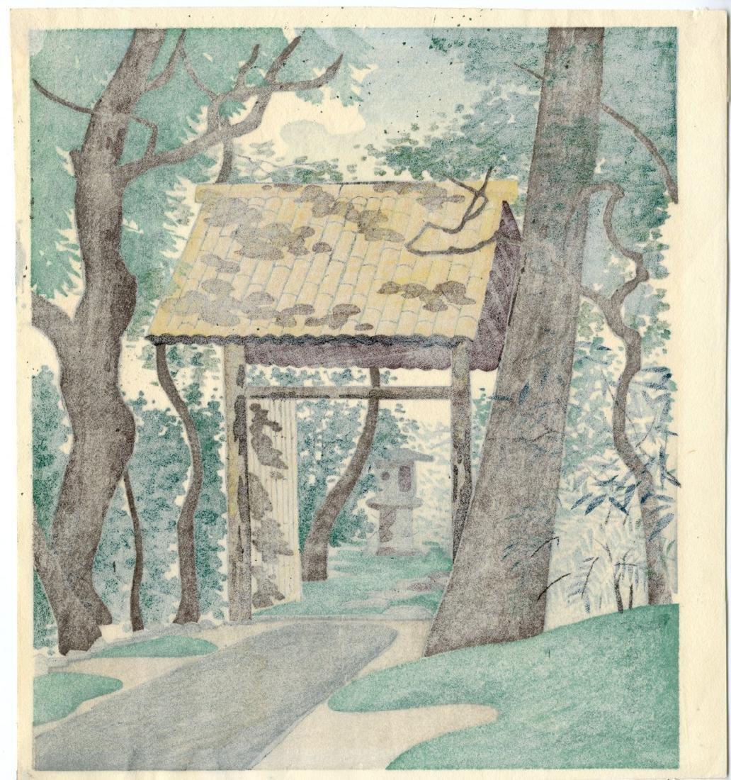 Tomikichiro Tokuriki Woodblock Konnichian Hermitage - 2