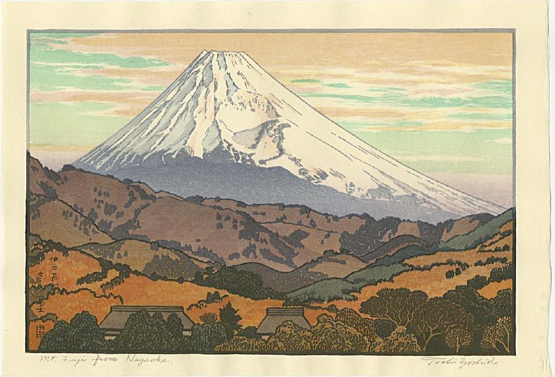 Toshi Yoshida Woodblock Mt. Fuji from Nagaoka