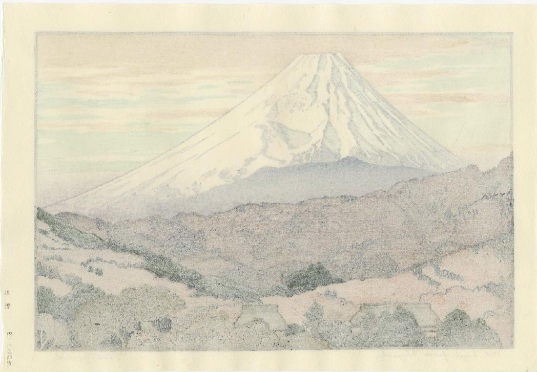 Toshi Yoshida Woodblock Mt. Fuji from Nagaoka - 2