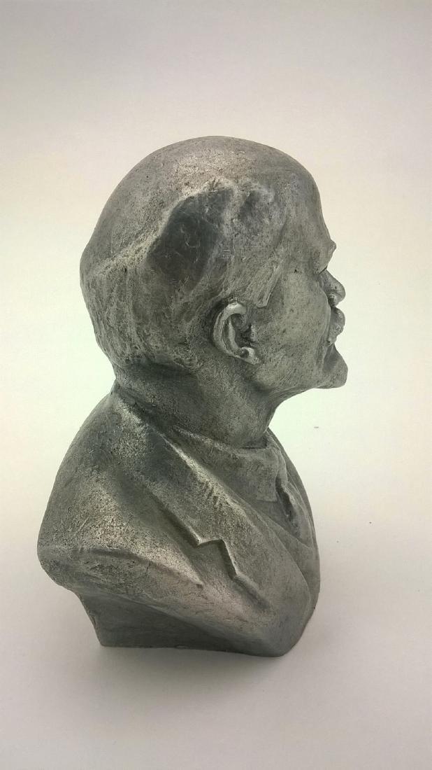 Old sculpture Statue V I Lenin Metal - 7
