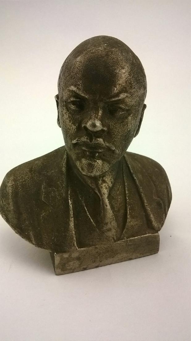 Old sculpture Statue Russian revolutionary of V.I.