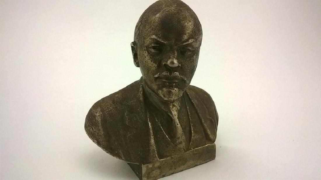 Old sculpture Statue Russian revolutionary of V.I. - 3