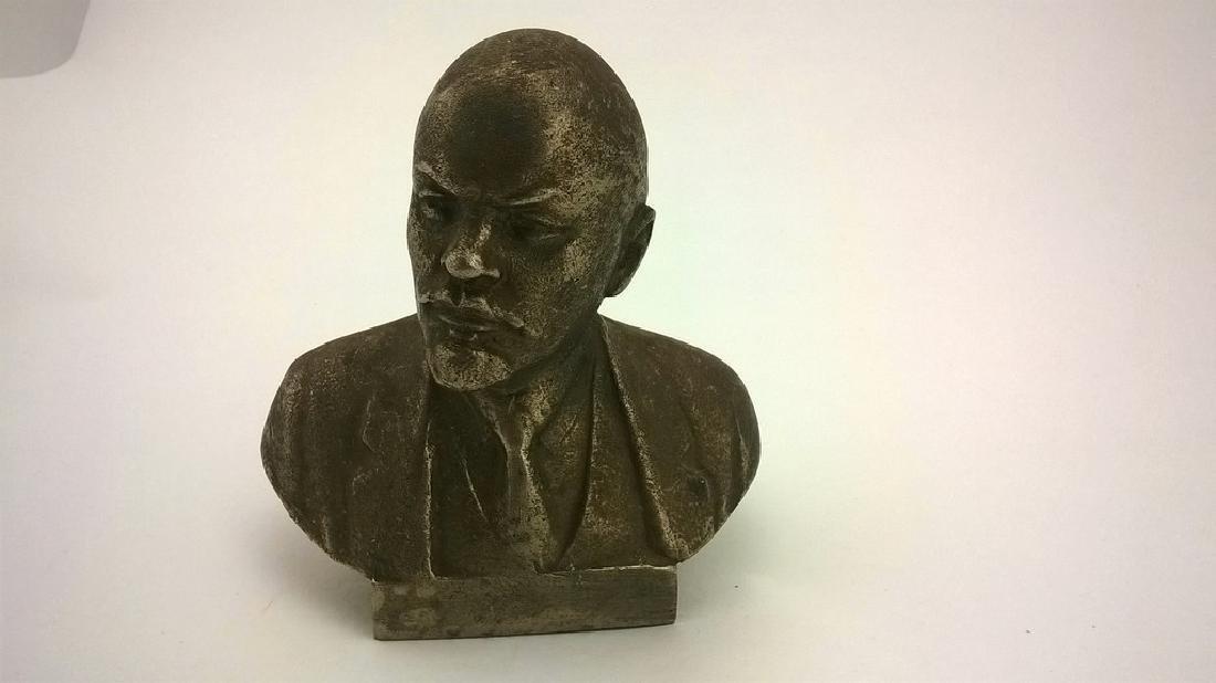 Old sculpture Statue Russian revolutionary of V.I. - 4