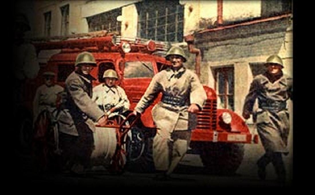 Fireman's helmet. 50s years. THE USSR. - 9