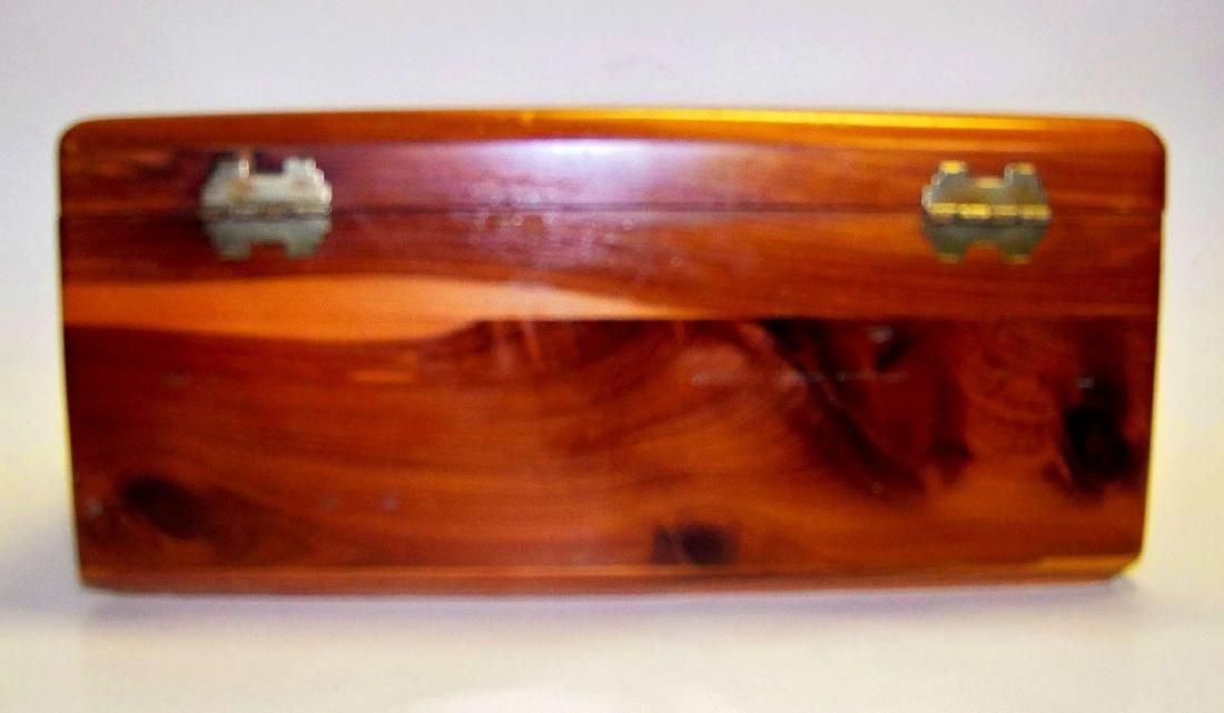 Vintage Lane Cedar Wood Jewelry Box - 3