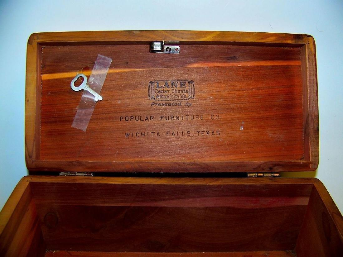 Vintage Lane Cedar Wood Jewelry Box - 6
