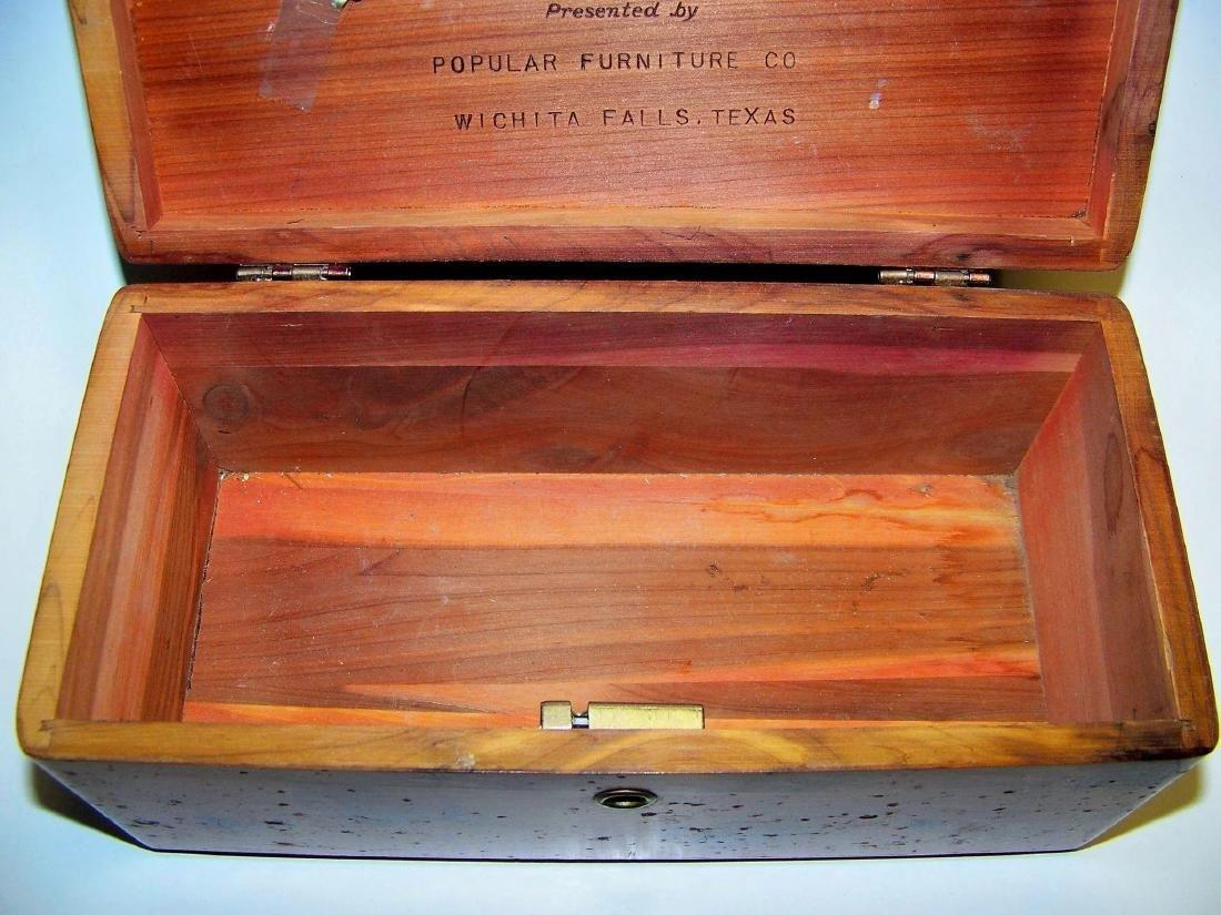 Vintage Lane Cedar Wood Jewelry Box - 7