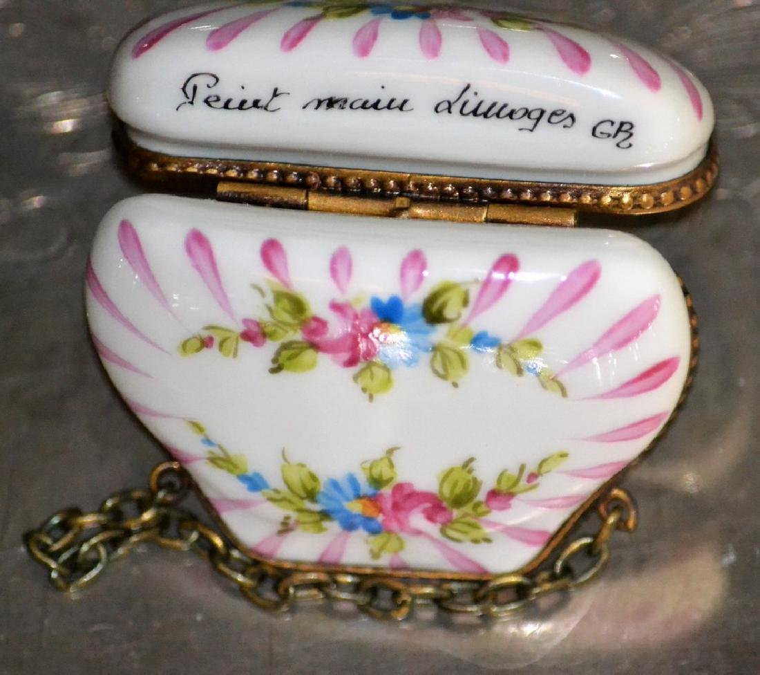 Limoges Flowered Chest - 3