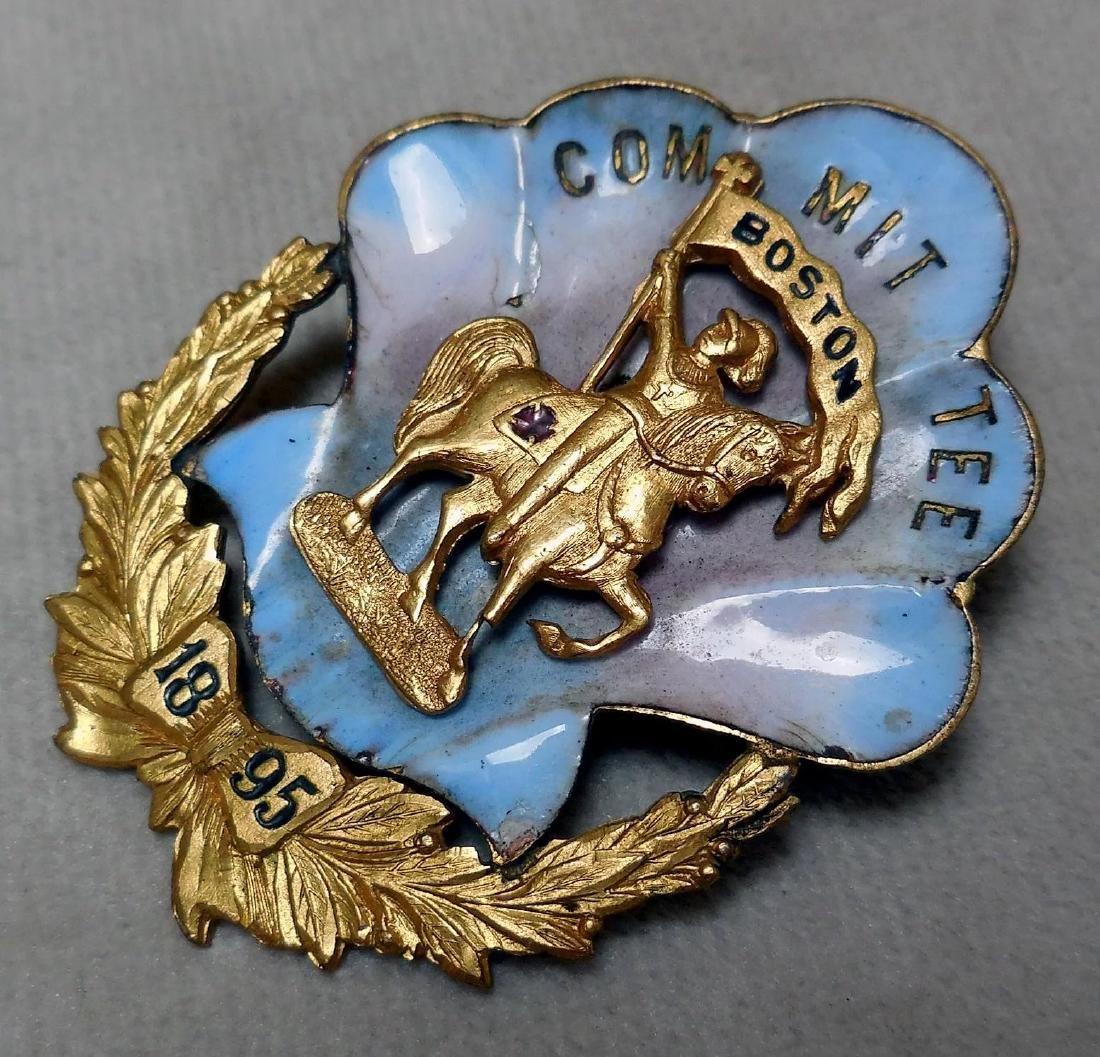 Antique Knights Templar Pin, 1895 - 5