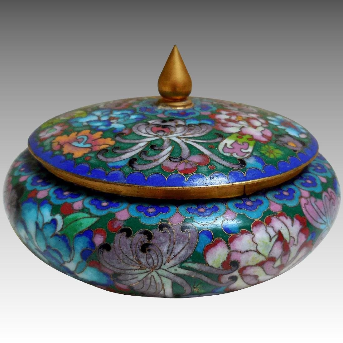 Lady's Cloisonne Powder Box