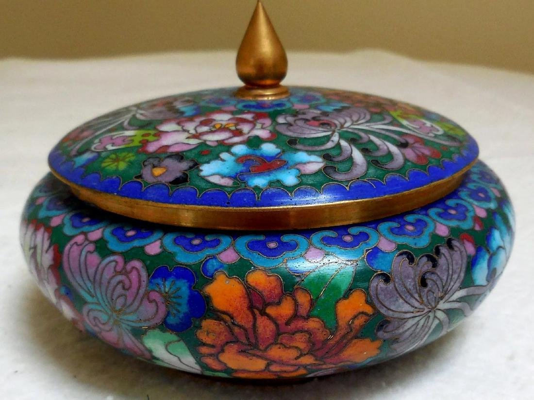 Lady's Cloisonne Powder Box - 2