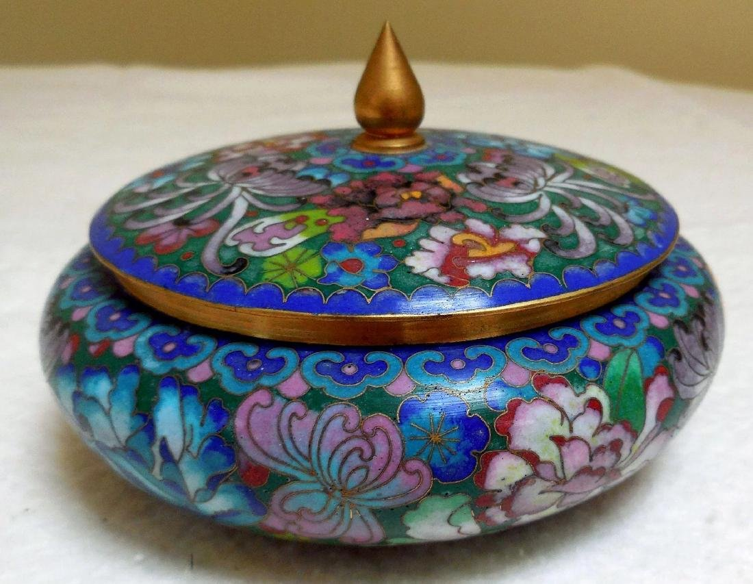 Lady's Cloisonne Powder Box - 3