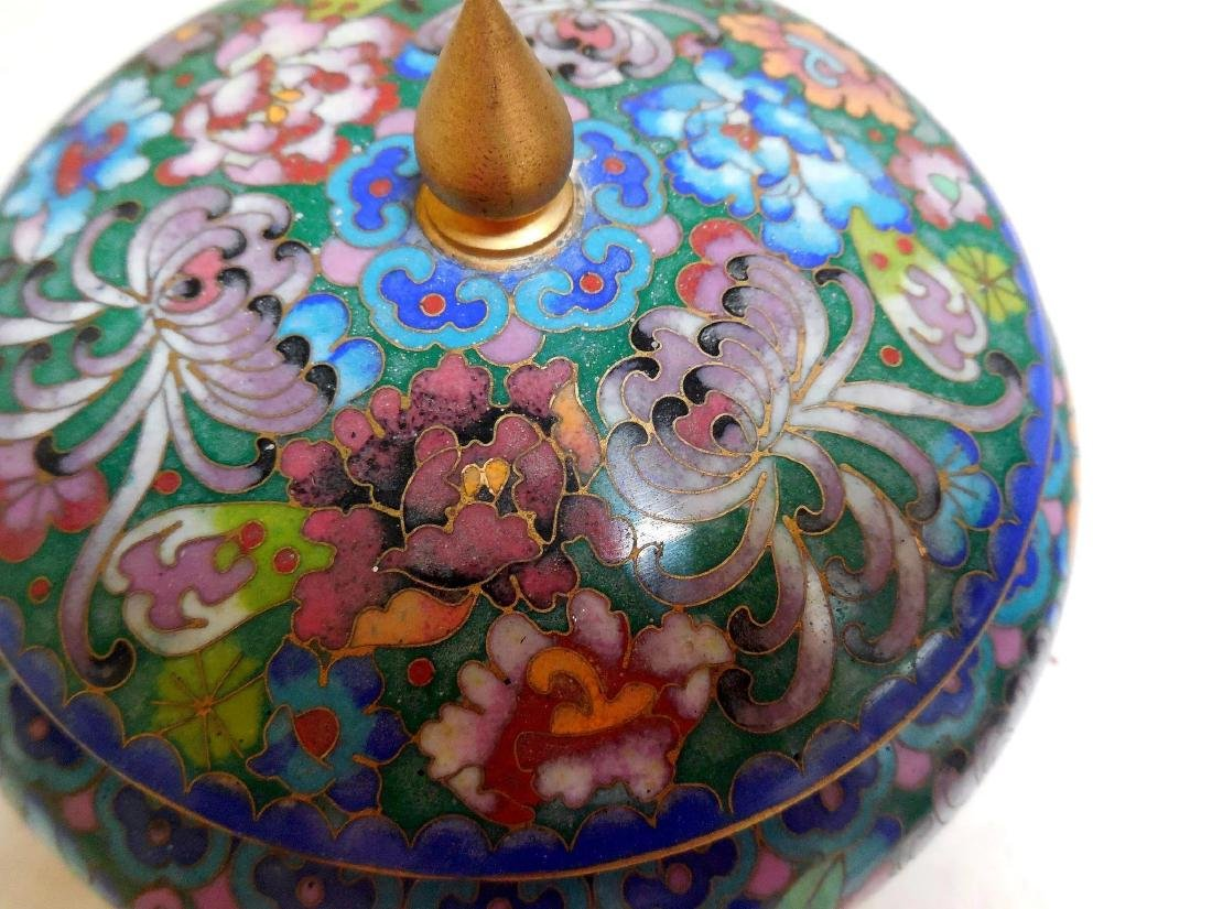 Lady's Cloisonne Powder Box - 5