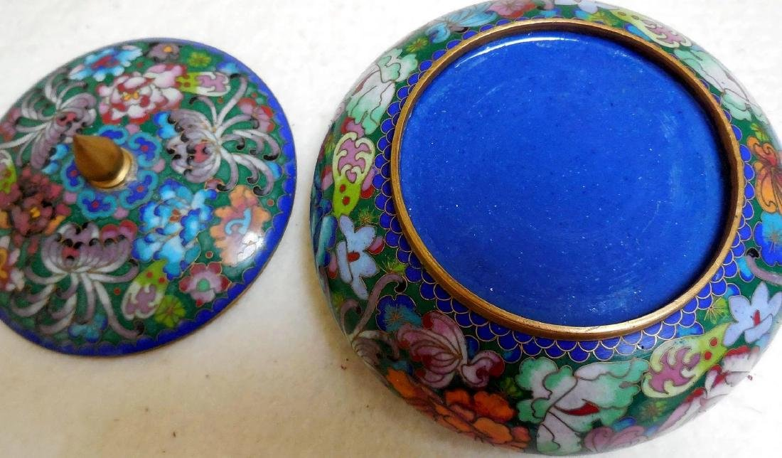 Lady's Cloisonne Powder Box - 7