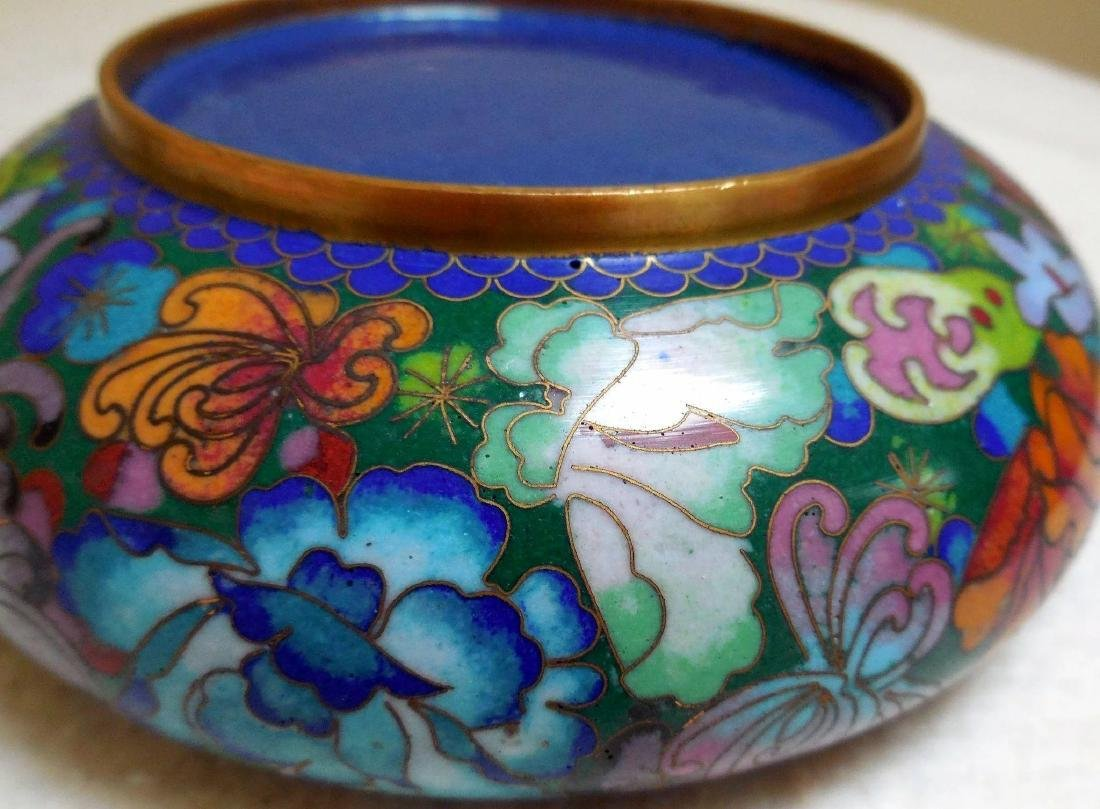 Lady's Cloisonne Powder Box - 8
