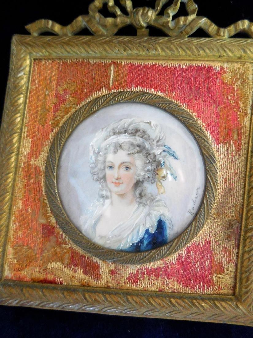 Antique Miniature Portrait, French, 18th/19th Century - 6
