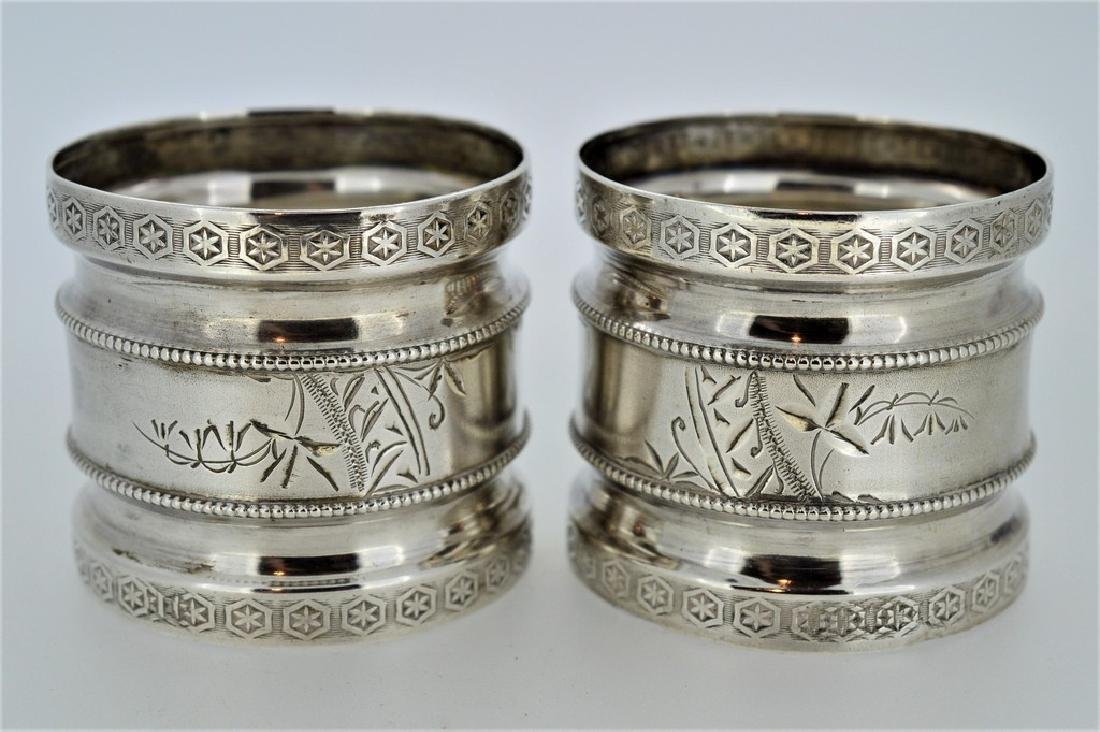 Lot of Sterling Silver Napkin Holders - 3