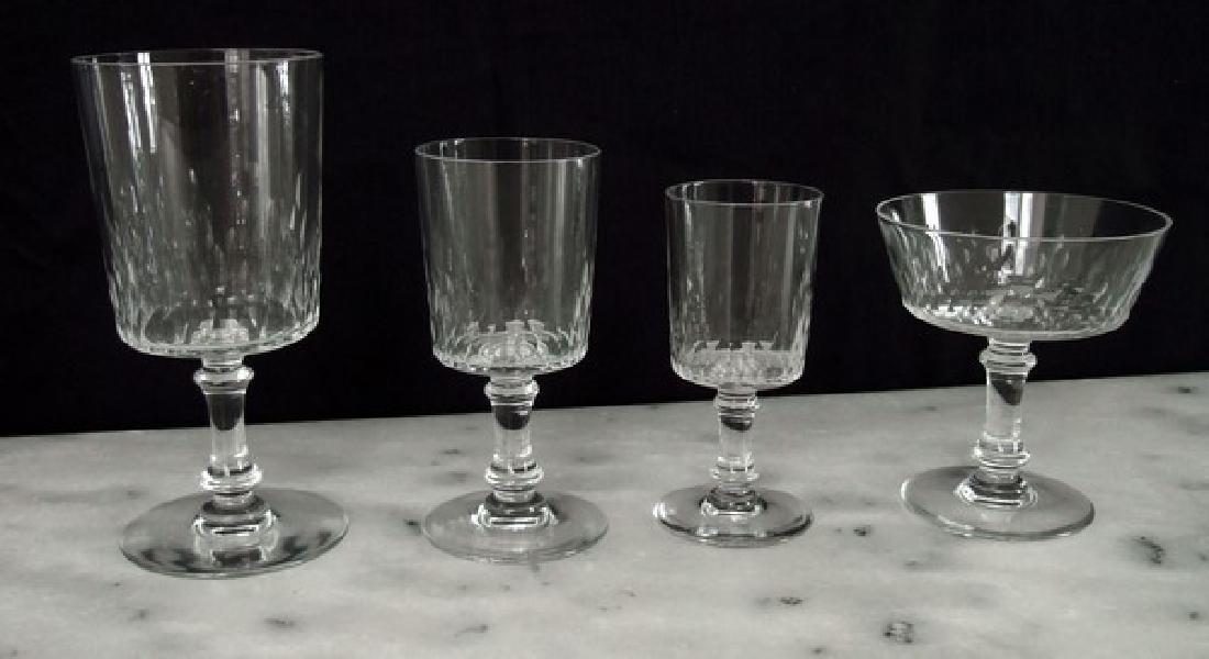 set of 6 Baccarat crystal Champagne glasses sherbets, - 3