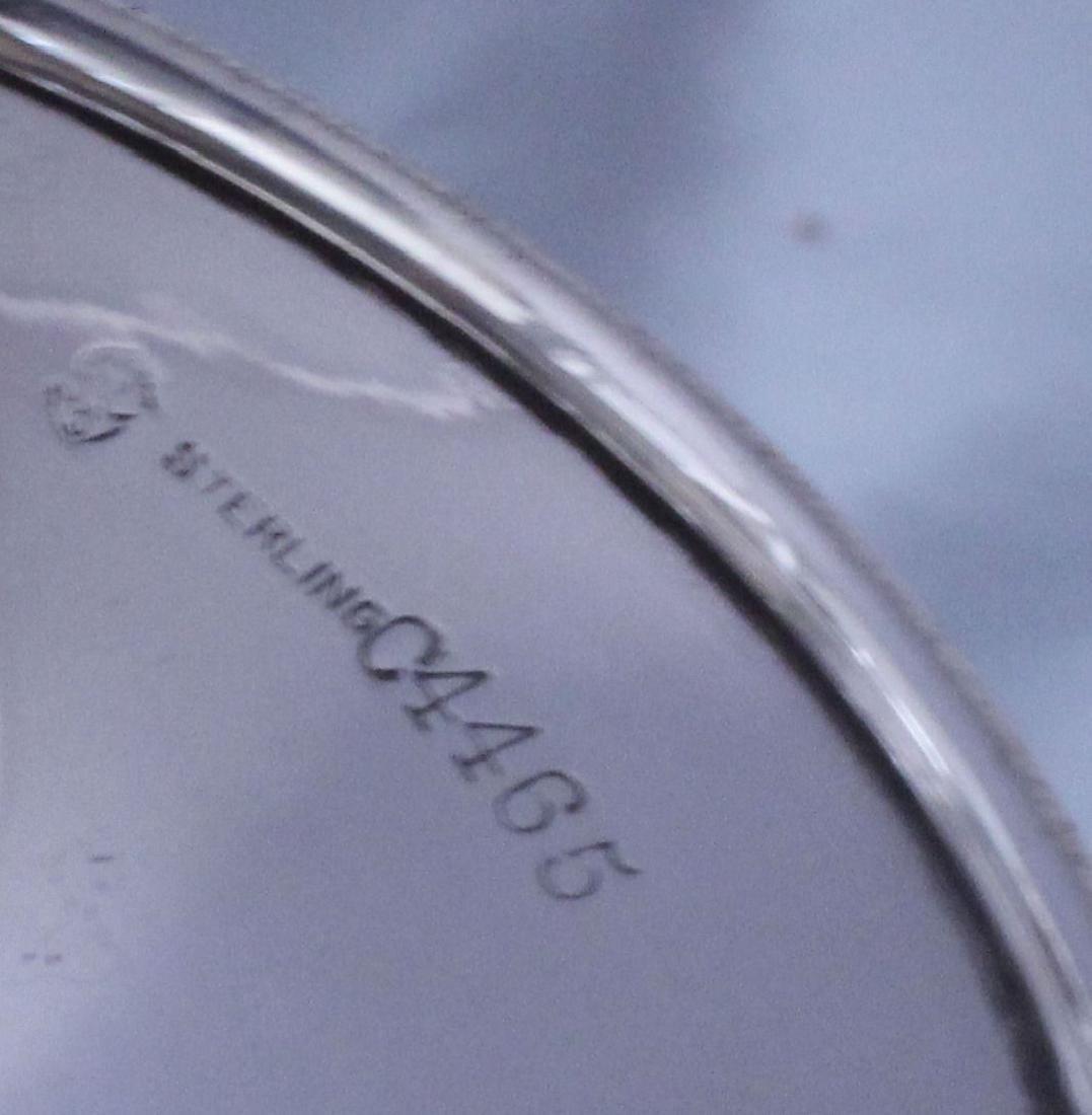 nternational Silver Footed Bowl Wheel Cut Glass Bowl - 8