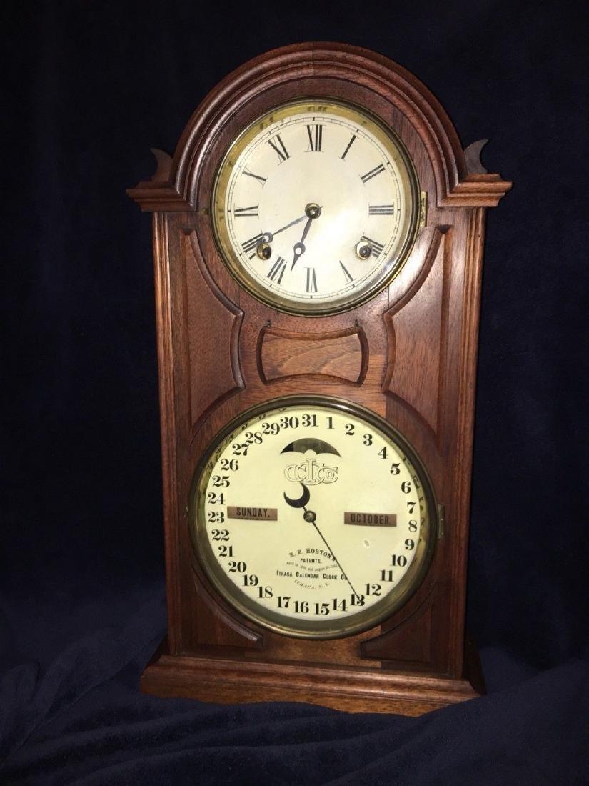 ORIGINAL ITHACA CALENDAR CLOCK 1865 Ithaca Calendar