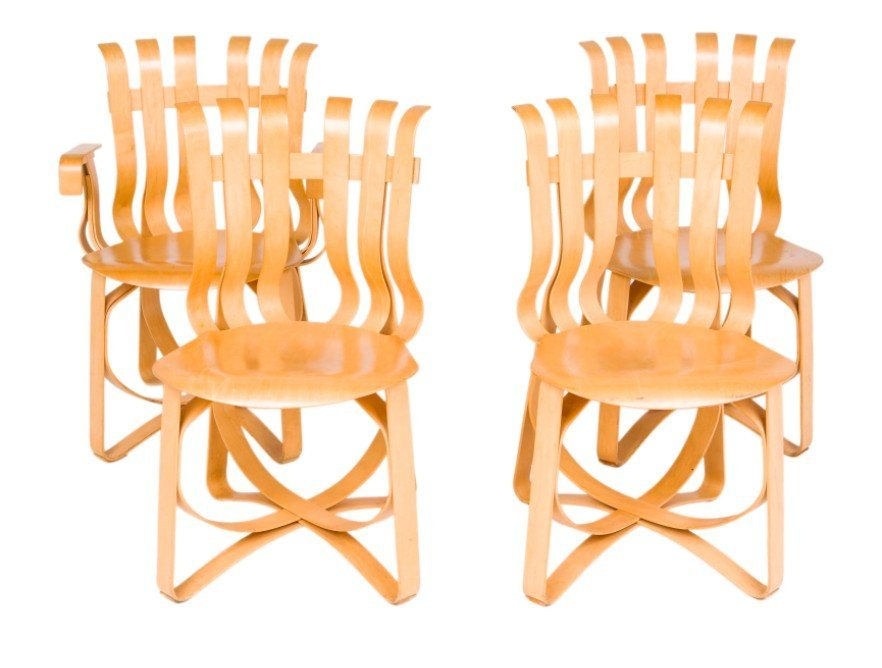 Knoll Set of 4 Frank Gehry Hat Trick Armchairs