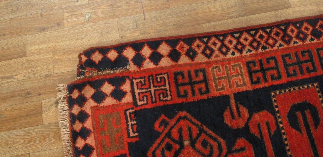 Antique Persian Hamadan Rug 5.10x15.5 - 4