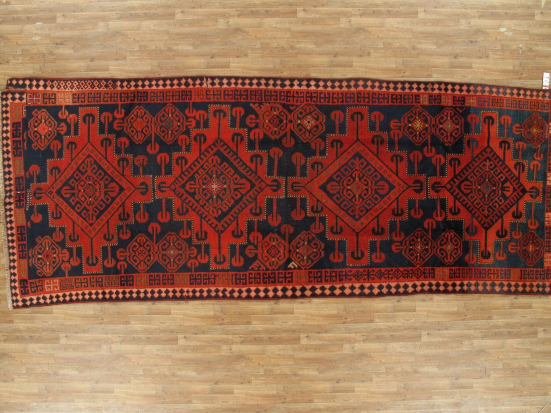 Antique Persian Hamadan Rug 5.10x15.5 - 5