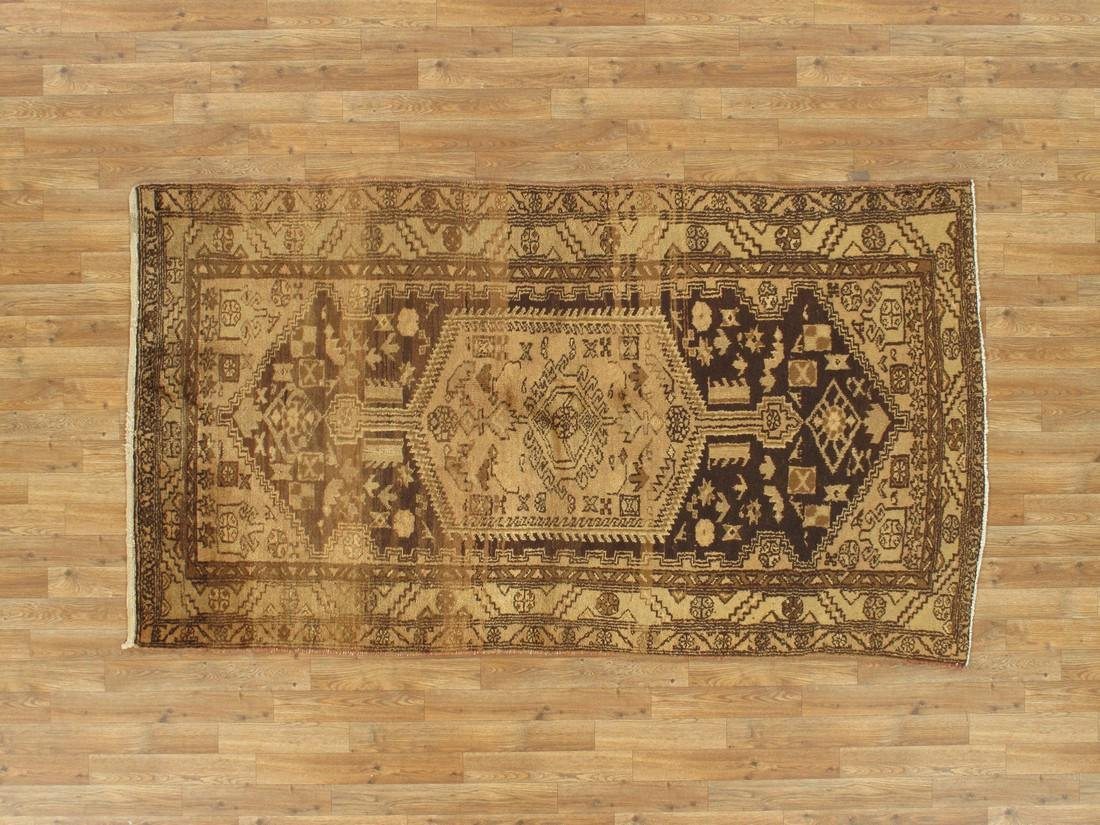 Vintage Persian Rug 4.2x7.3