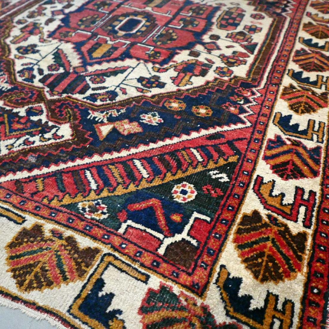 Antique Persian Bakhtiar Wool Hand Knotted Rug 6.3x4.2 - 3