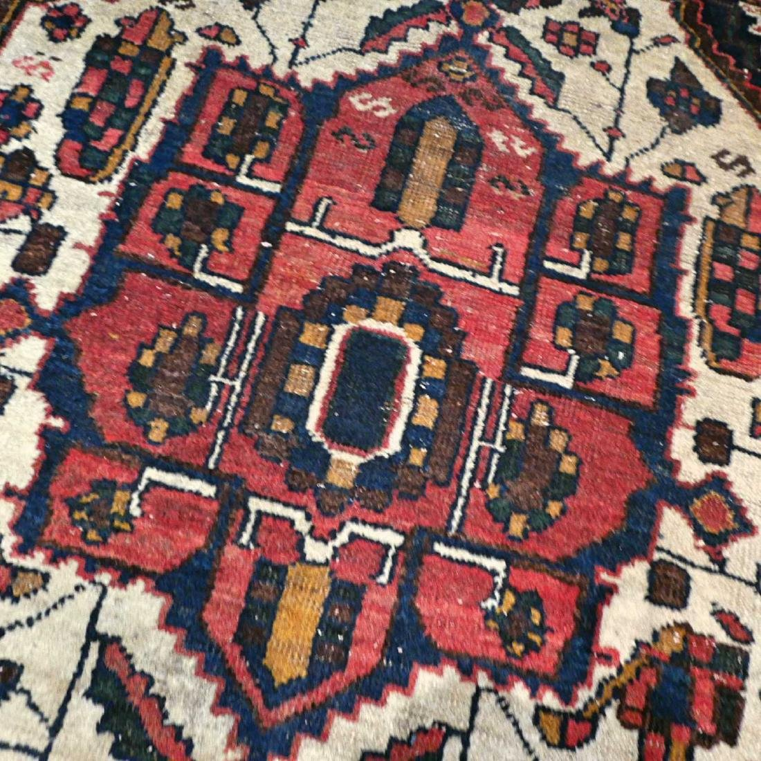 Antique Persian Bakhtiar Wool Hand Knotted Rug 6.3x4.2 - 9