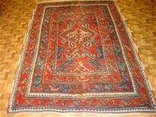 Antique Turkish Ushak Rug 4x6.8