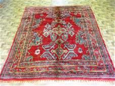 Vintage Turkish Ushak Rug 5x6.5