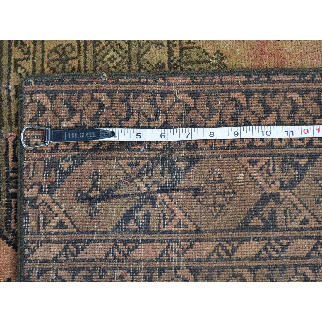 Pure Wool Afghan Patchwork Hand Knotted Rug 9x12 - 5