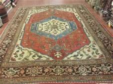 Antique Persian Mahal Rug 9x12.9