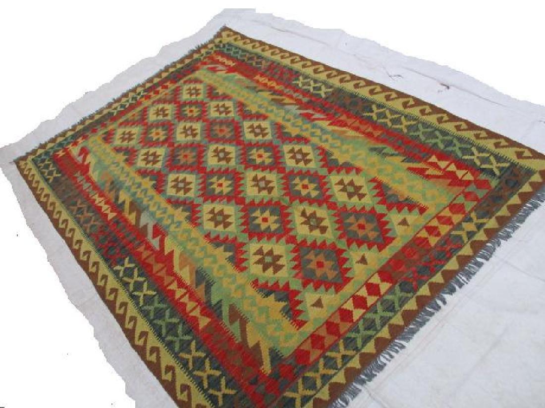 Beautiful Vegetable Dyed Chobi Kilim Rug 8.2x5.10 - 2