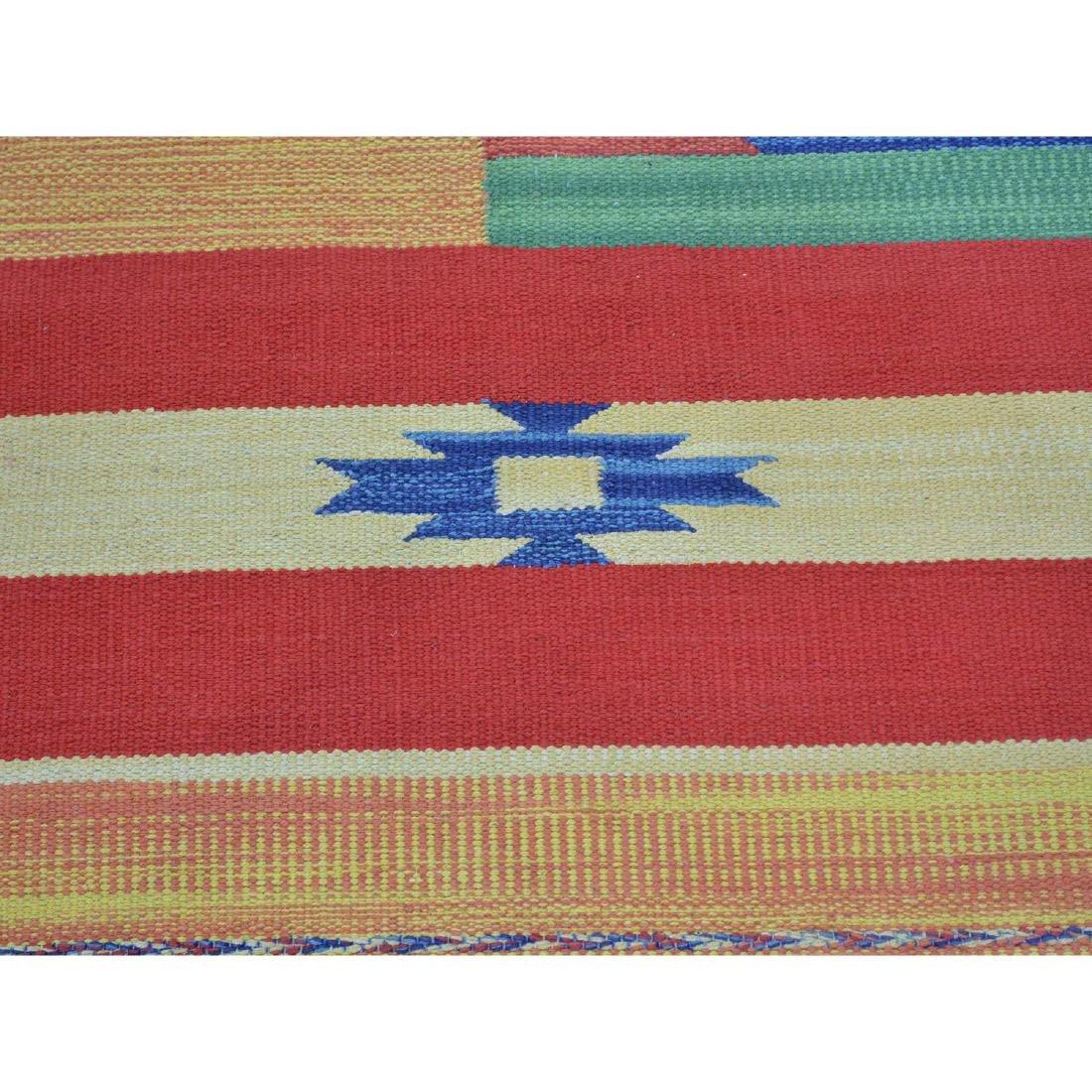 Flat Weave Kilim Hand Woven Navajo Design Rug 6x6.1 - 4
