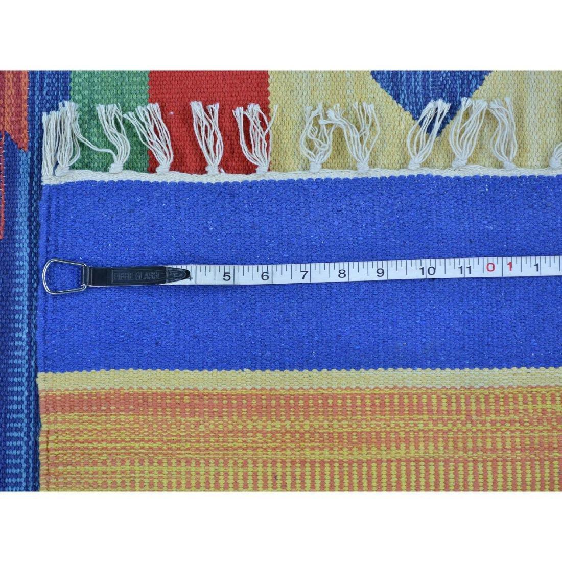 Flat Weave Kilim Hand Woven Navajo Design Rug 6x6.1 - 5