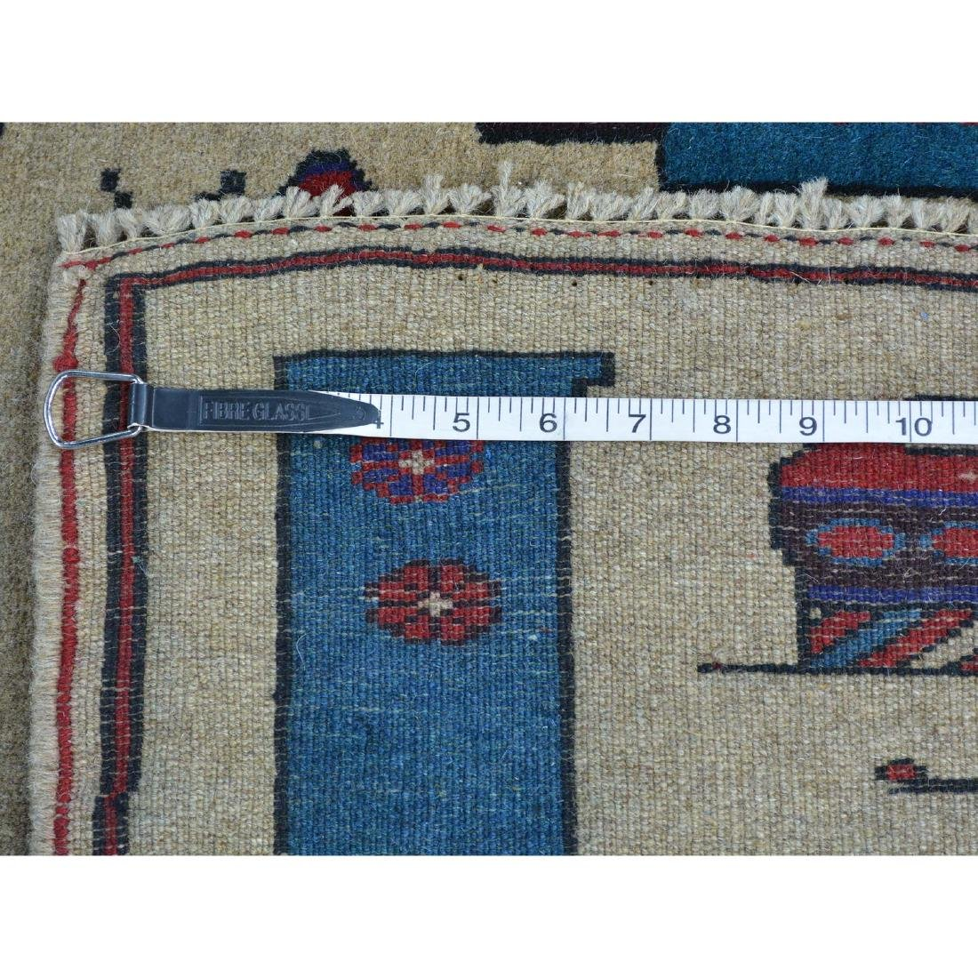 Hand Knotted Afghan Baluch War Tank Grenade Rug 2.9x4.6 - 5