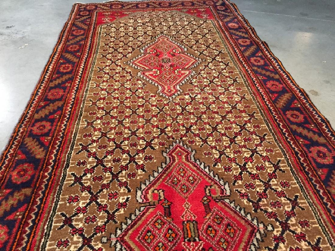 Fine Persian Hamedan Wide Runner Rug 3.3x11 - 5