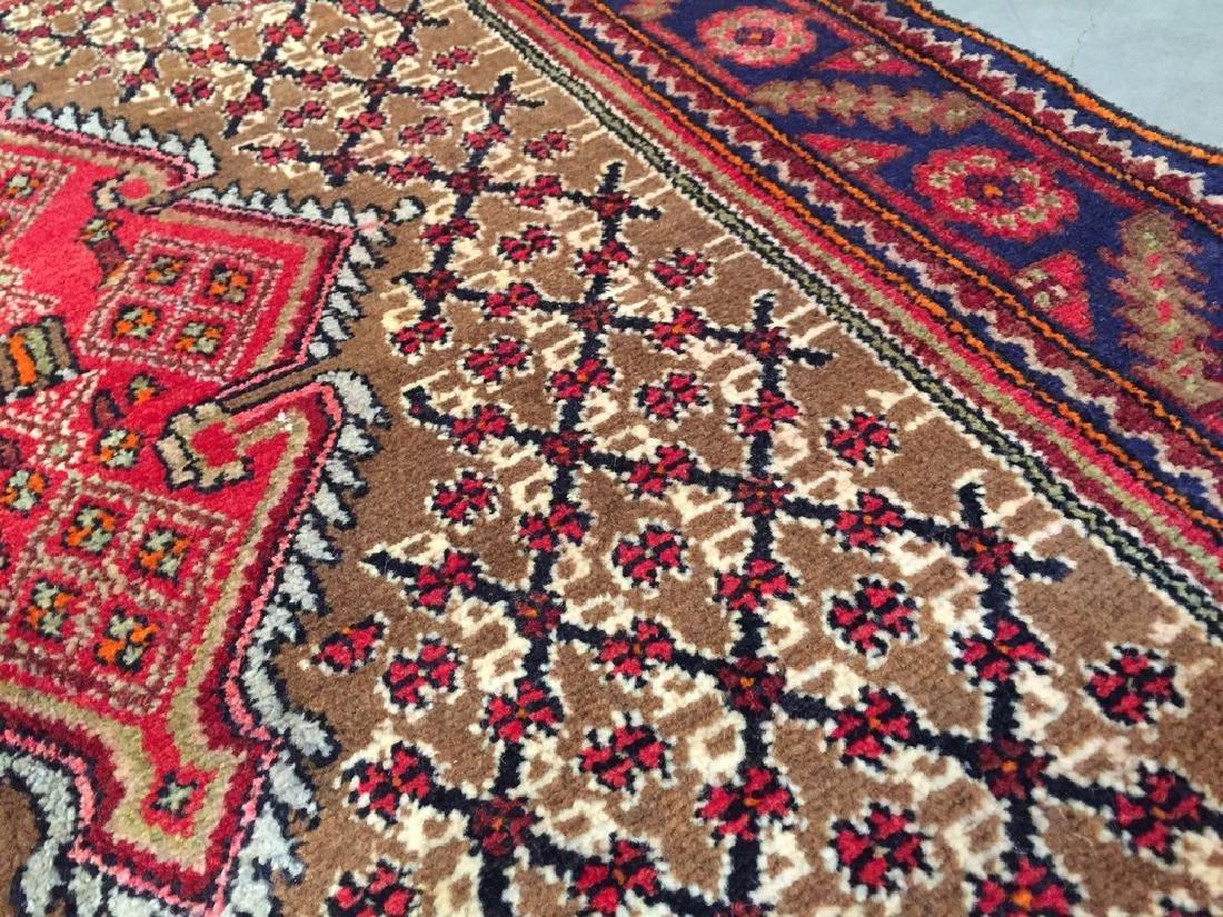 Fine Persian Hamedan Wide Runner Rug 3.3x11 - 6
