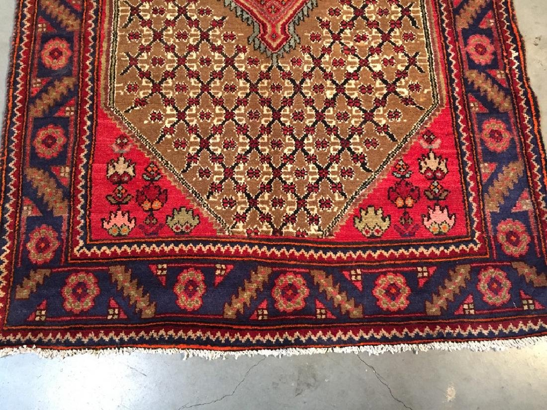 Fine Persian Hamedan Wide Runner Rug 3.3x11 - 8
