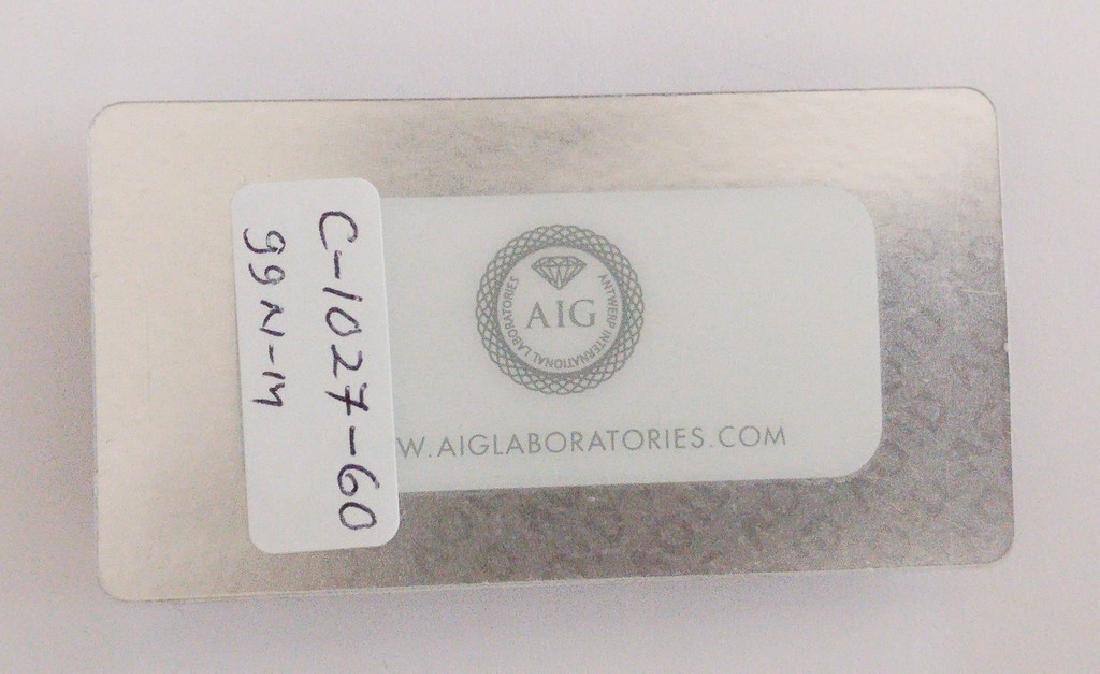 0.52 ct Pear cut diamond F.Brn.Greenish Yellow / - 2