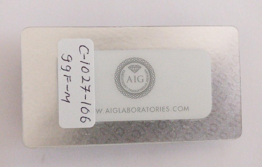 0.62 ct Oval cut diamond F.V.Brownish Yellow / - 3