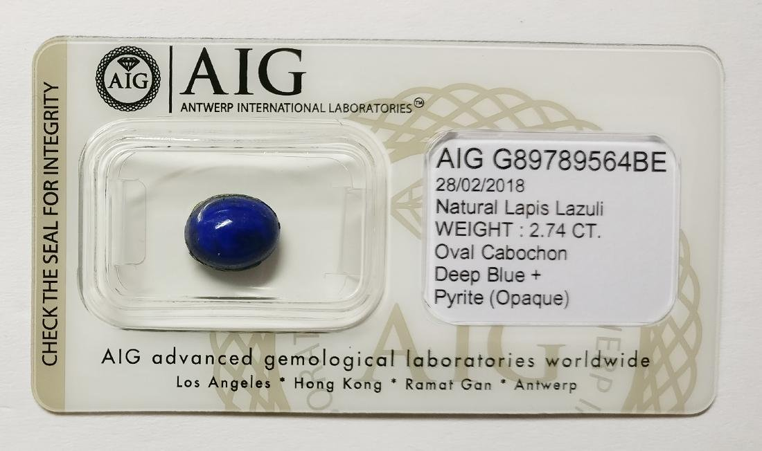 Lapis Lazuli Deep Blue + Pyrite Opaque 2.74 ct