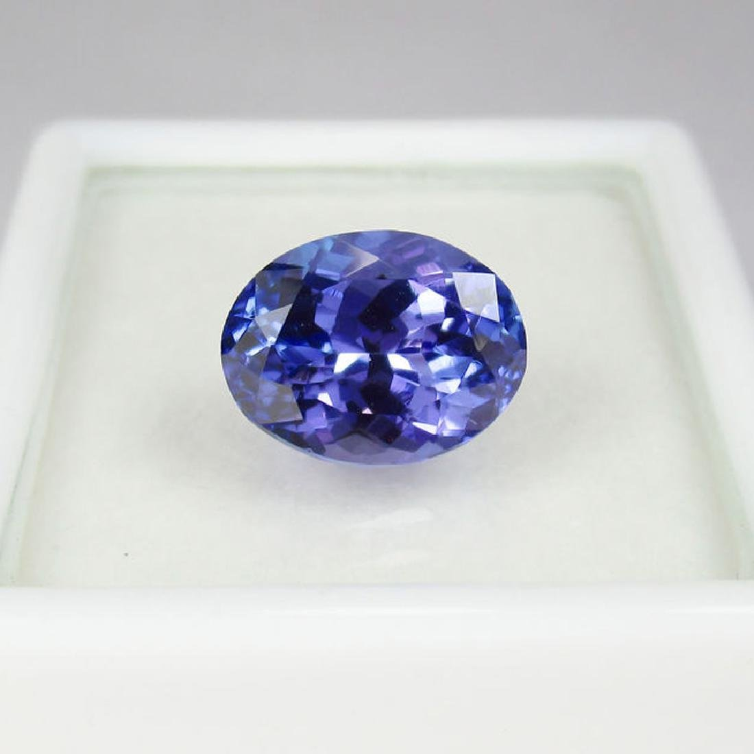 3.05 Ctw  IGI Certified Natural Loose Oval Tanzanite