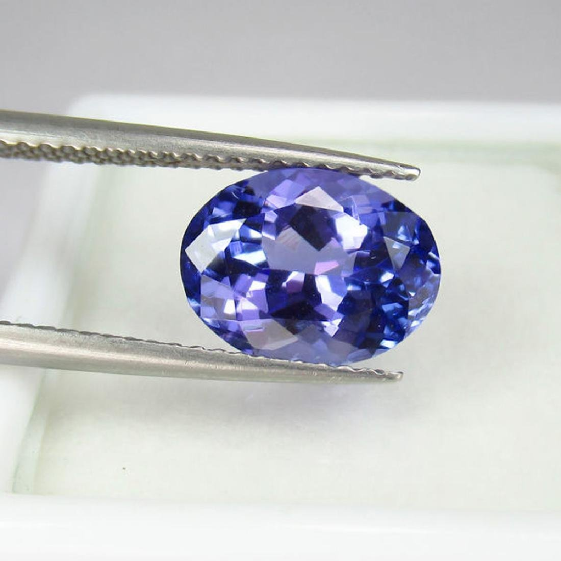 3.05 Ctw  IGI Certified Natural Loose Oval Tanzanite - 2