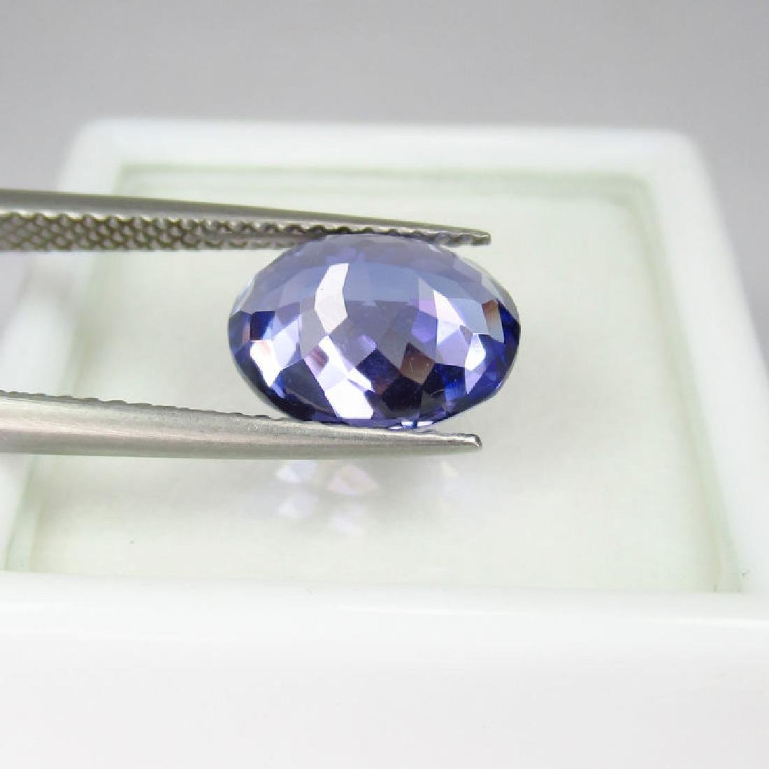 3.05 Ctw  IGI Certified Natural Loose Oval Tanzanite - 4